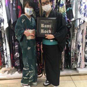 「LUNCO 」で購入した鮎の着物で新宿伊勢丹へ。☆その①☆