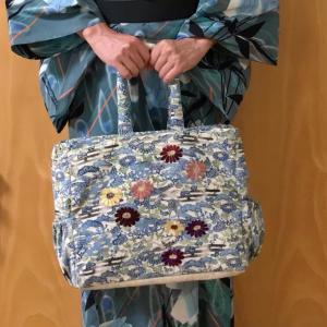 アヤンティーヌ作バッグ☆菊の刺繍 で刺繍の講座へ