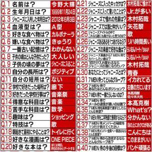 侍Tube 今野大輝77の質問!