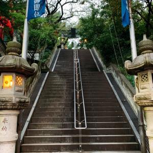 【侍ロケ地】石段を駆け上った!神社へ。