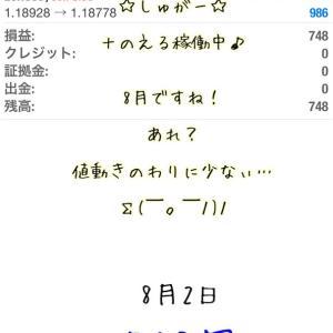 8月2日・自動売買ソフト『 Sugar(しゅがー)』@ 8月すたーと!月初だけど稼働中...