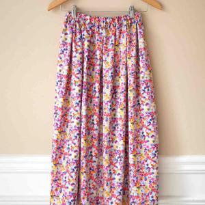 polka dropsさんのかんたんすっきりギャザースカート、できました