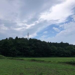 空を見上げて。