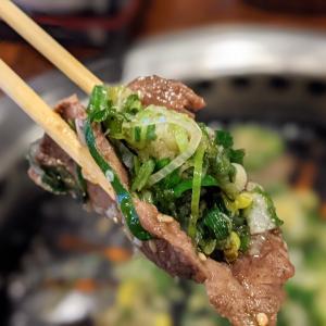 豪快ねぎ盛★【 御料理処 青木 】さんの肉ランチ【名古屋市港区】
