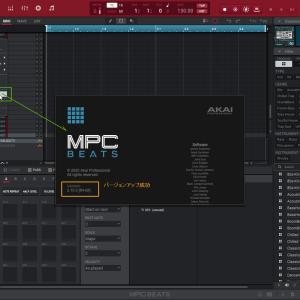 MPC Beats v2.10 アップグレード(MPC Beats起動しない)