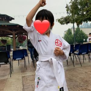 BC Dayで空手を披露した息子