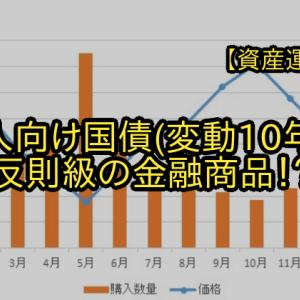 【資産運用】個人向け国債(変動10年)は反則級の金融商品!?