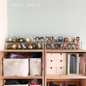 【キッズスペース】大量の鬼滅の刃人形を飾る棚を設置
