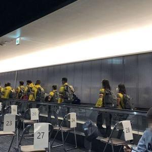 ベルギーオリンピック選手も一緒、日本へ一時帰国。