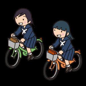 No.127 【危険運転】併走する女子学生のイラスト