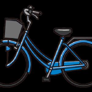 No.132 青い自転車のイラスト