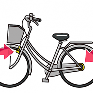 No.133 ブレーキを強調した銀色の自転車のイラスト