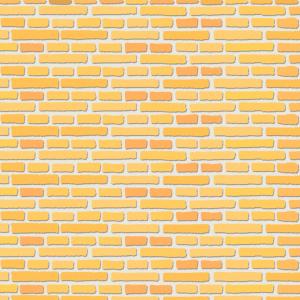 No.281 黄色いレンガの背景のイラスト