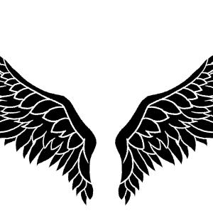 No.283 翼の背景のイラスト(モノクロあり)
