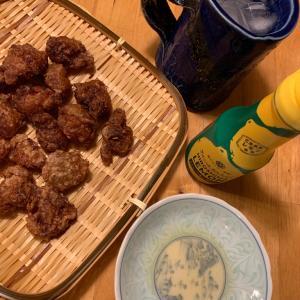 本日の一品!砂肝の唐揚げ。ニンニク醤油味!