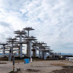 チーバくんのち〇ち〇なう! 富津岬に聳え立つ明治百年記念展望塔