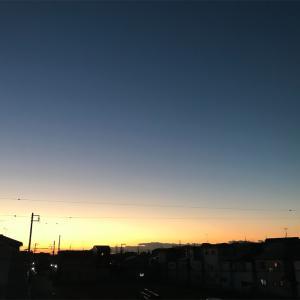 寒いけど快晴な朝