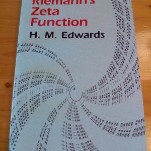Riemann's Zeta Function(H.M.Edwards著)