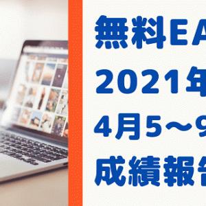 無料EA 4月5日~9日 運用実績 2021年 FX自動売買