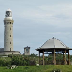 角島灯台とファミリーワゴンSSと花たち
