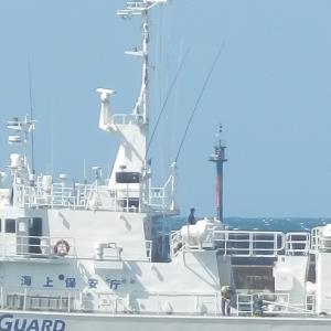 船の入港と夕日夕焼け!
