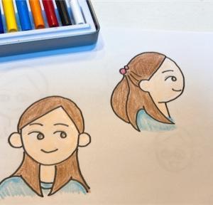 久しぶりにイラスト描きました!(マルペケの顔を卒業編)