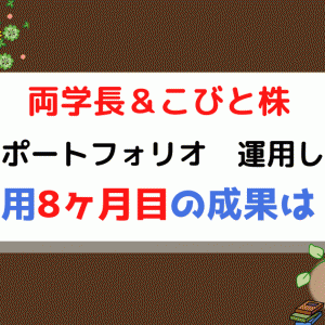 こびと株&両学長 日本の高配当株ポートフォリオ運用状況 8か月目