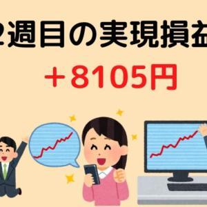 1月2週目の実現損益結果 +8105円