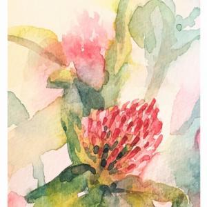 透明水彩楽描き「野草」