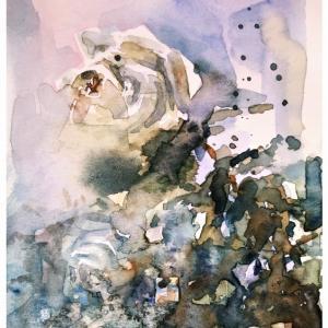 透明水彩楽描き「薔薇×3」(マルマン ヴィフアール細目 試供品にて)