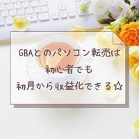 GBAのパソコン転売はPCの知識がなくても転売初心者でも初月から稼げたよ
