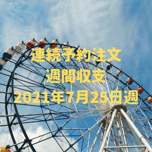 【連続予約注文】【代用FX】運用収支(2021年7月25日週)