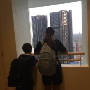 ここ、33階です