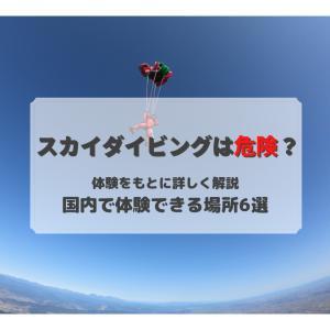 【体験者が教える】スカイダイビングってどんな感じ?料金は?危険じゃないの?