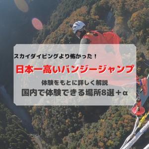 【スカイダイビングより怖い?!】地上220m:日本一高いバンジージャンプ!
