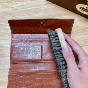『IL BISONTE(イルビゾンテ)財布』ヌメ革のメンテナンス