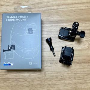 ヘルメットのシールドとの干渉にご注意を!!『GoPro純正ヘルメットフロント+サイドマウント』開封&使用感レビュー