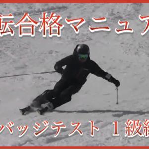 【1級検定編】スキーバッジテスト逆転合格マニュアル!動画も付いた超特大ボリューム!