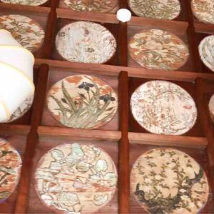 松原開運六社めぐりの一社 阿保親王の住居址で菅原道真公を祀る『阿保神社』花天井が綺麗でした。