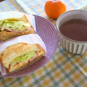玉ねぎスープと今日のパンランチ&2種のセージの刈り込み