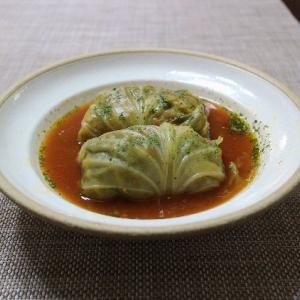 完熟うらごしトマトを使ったスープが美味しい♪ロールキャベツ