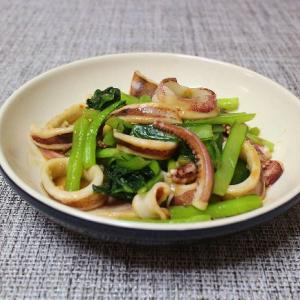 さわらのホイル焼きや小松菜といかの炒め物
