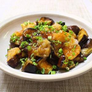 梅雨明け♡茄子と鶏むね肉の甘酢おろし炒め