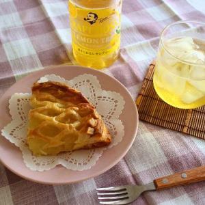 朝からめまいで(>_<)アップルパイとクラフトボスの レモンティー