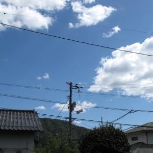 空を眺めるだけで元気が出る/青空と白い雲の芸術/広島の2019/9/18 13:15の空の風景