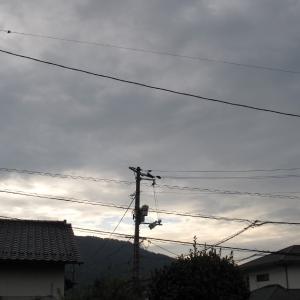 広島は曇天です/午後から降雨予報/2019/9/27 7:30の空の風景
