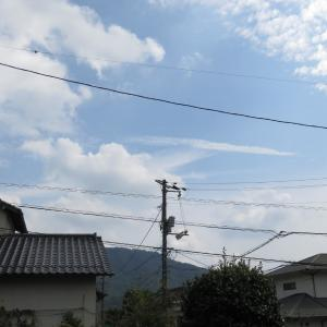 広島の空は秋色/2019/10/1 12:50の空の風景