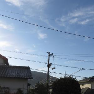 広島は快晴です/2019/10/5 8:00の空の風景