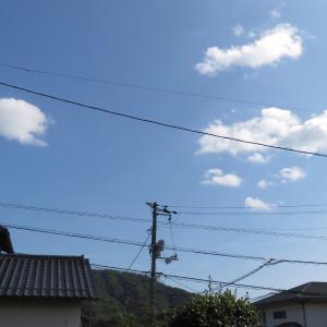 広島は好い天気ですよー/碧空が綺麗ですよー/2019/10/5 13:55の空の風景