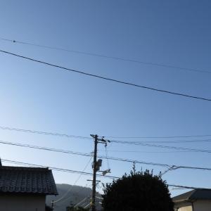 広島は青空が美しい/2019/10/10 7:30の空の風景
